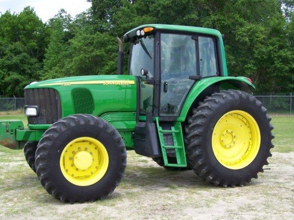 1165  2005 John Deere 7320 4x4 Farm Tractor With Cab