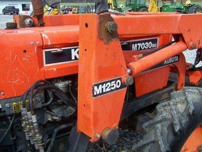 1319: Kubota M7030 4x4 Farm Tractor with Loader - 7