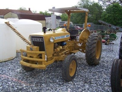 1290: Ford 3600 Farm Tractor with Sickle Bar Mower, ROP