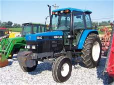 224: New Holland 6640 Farm Tractor with Cab