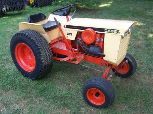 bf9058ace4504f 2658: 1968 Case 195 Lawn & Garden Tractor Very Nice