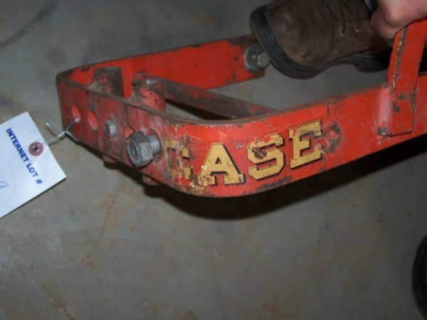 2469: Early Brinly Case Garden Tractor Sleeve Hitch