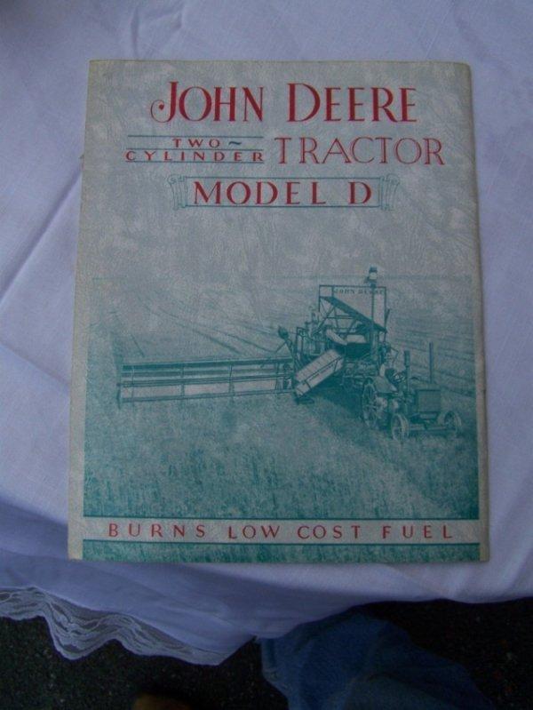 3006: Original John Deere D Antique Tractor Brochure