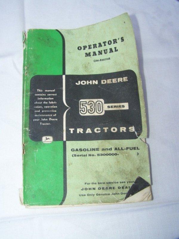 3007: John Deere 530 Antique Tractor Operator Manual