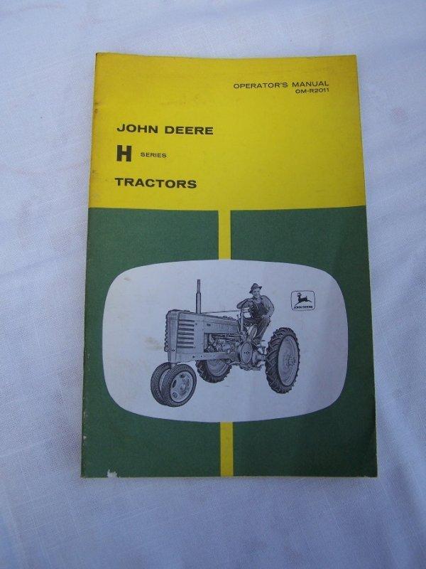 3001: John Deere H Antique Tractor Operator Manual