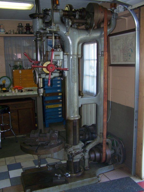 3000A: Antique Belt Drive Cincinnati Drill Press