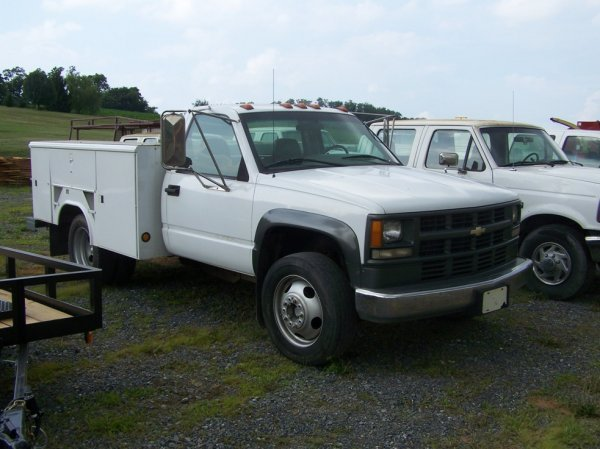 15: Chevy 3500 Dully Pick Up Truck Utility Body