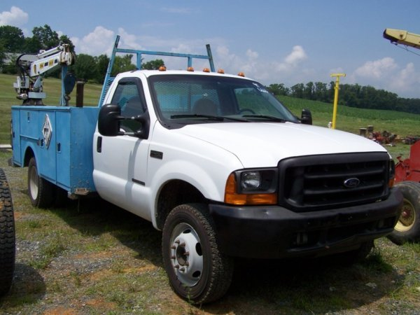 27: 1999 Ford F450 Diesel Pick Up Truck Utility Body