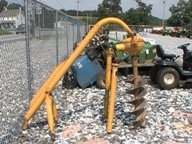"""4040: Danuser 3pt Post Hole Digger for Tractors 12"""" Aug"""