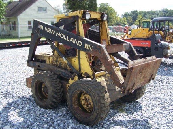 102: New Holland 553 Skid Steer Loader OROPS, AS-IS - 3