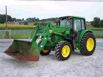 158: John Deere 6320 4x4 Cab Tractor with Loader