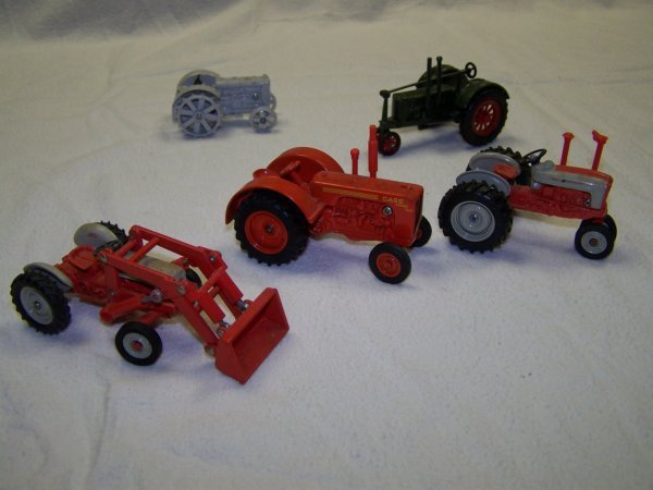 2: Ertl Mini Toy Tractors Ford, Case, and Massey Harris - 2