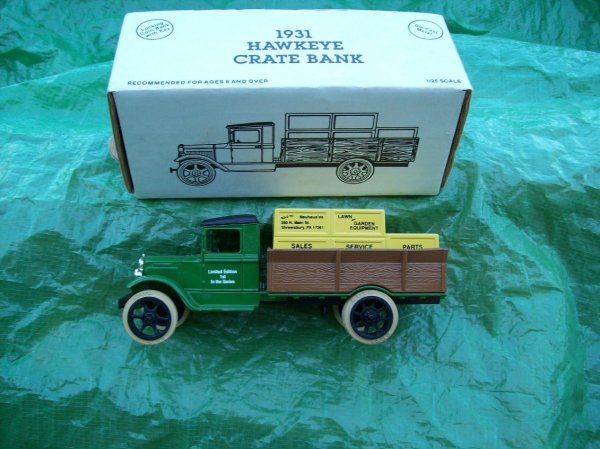 10: John Deere 1931 Hawkeye Bank Toy Truck