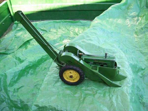 97: John Deere Toy Model 60 Tractor with Corn Picker