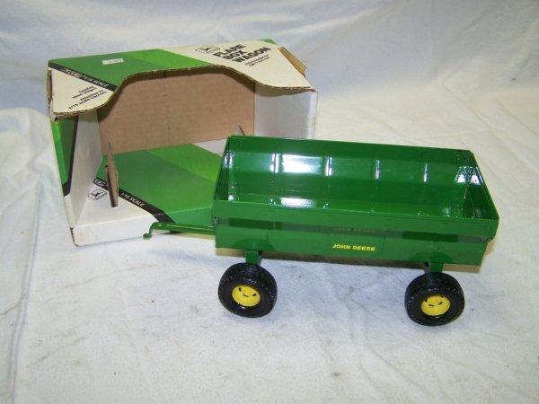 294: Ertl John Deere Flair Wagon and Hay Rake Toy