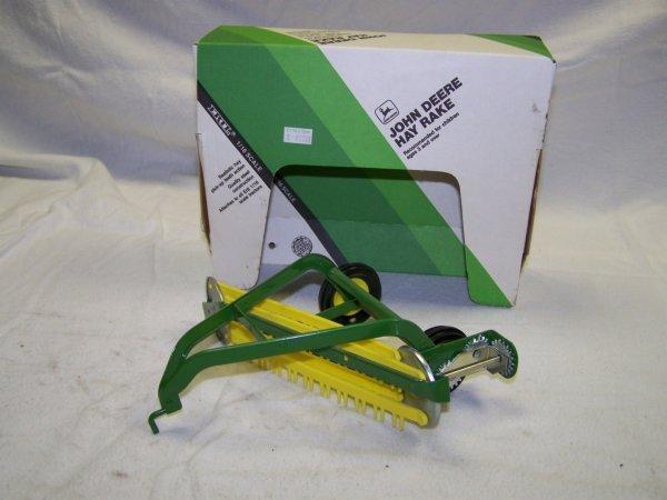 294: Ertl John Deere Flair Wagon and Hay Rake Toy - 2