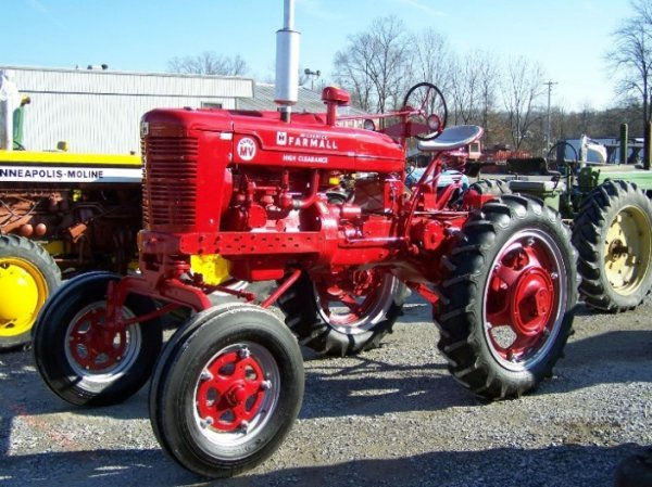 2228: Farmall Super MV Hi-Crop Restored Antique Tractor