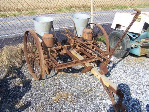 2068: AB Farquhar Antique 2 Row Tractor Corn Planter