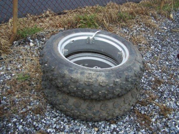 2053: Very Nice Farmall Cub 9.5-24 Turf Tires & Rims