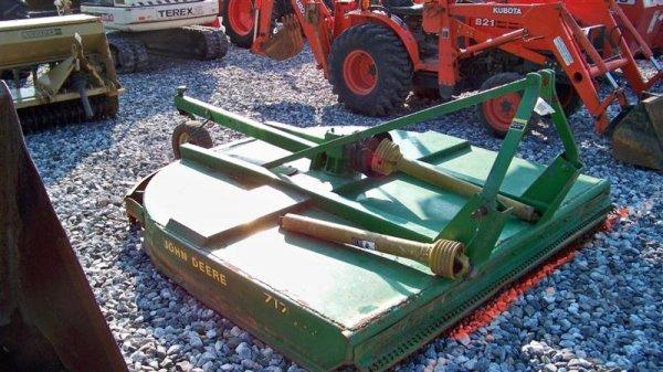 4136: John Deere 717 7' 3PT Rotary Mower for Tractors