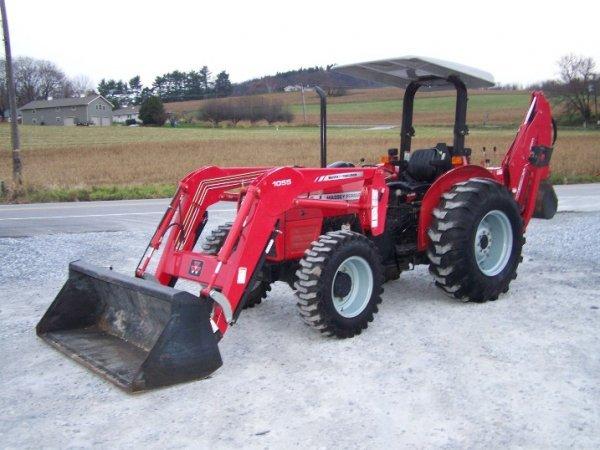 4175: Massey Ferguson 461 Tractor with Loader Backhoe