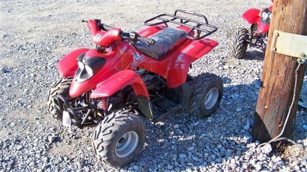 4201: Unused Bush Hog 50CC Youth ATV Utility Vehicle