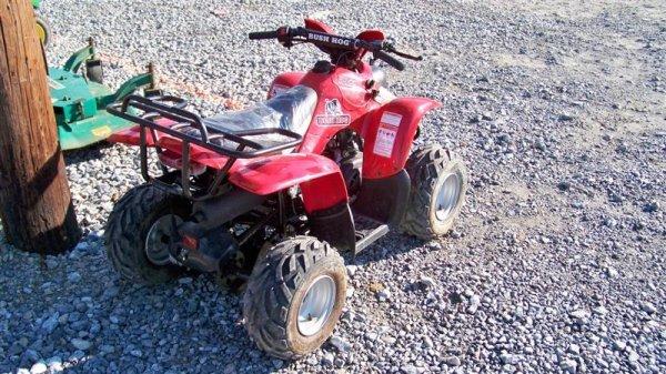 4201: Unused Bush Hog 50CC Youth ATV Utility Vehicle - 3