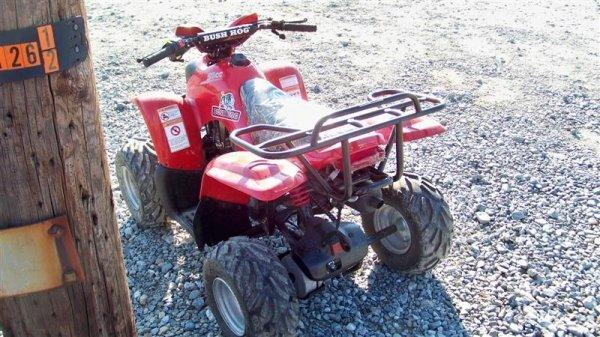 4201: Unused Bush Hog 50CC Youth ATV Utility Vehicle - 4