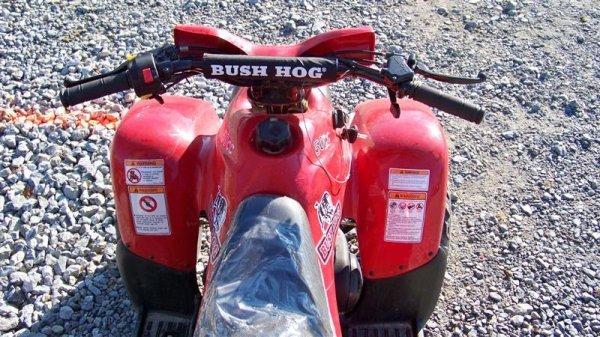 4201: Unused Bush Hog 50CC Youth ATV Utility Vehicle - 5