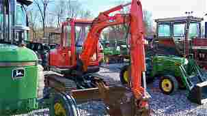 4342: Kubota KX 121-2 Mini Excavator with EROPS