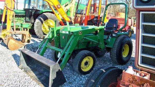 4344: John Deere 955 4x4 Compact Tractor with Loader - 2