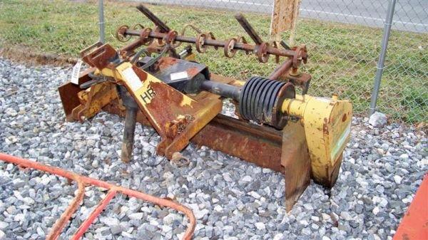 4064: Harley T6 6' 3pt Power Rake for Tractors