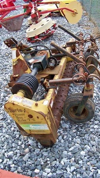 4064: Harley T6 6' 3pt Power Rake for Tractors - 4