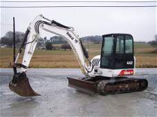 198: Bobcat 442 Mini Excavator with EROPS, 3rd Valve