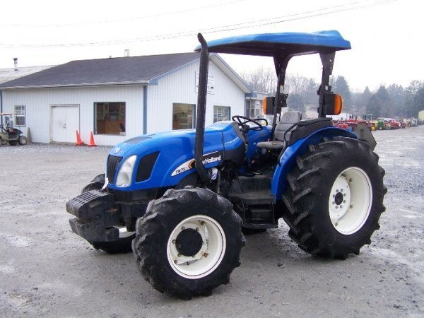 New Holland 75hp 4x4 Tractors : New holland tn a farm tractor with loader val