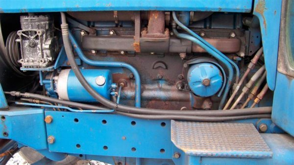 312A: Ford 9700 Farm Tractor with Cab,  Dual Power - 7