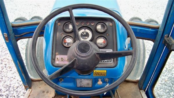 312A: Ford 9700 Farm Tractor with Cab,  Dual Power - 9
