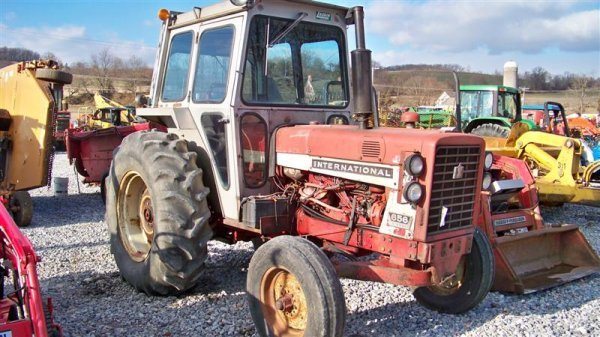 454: International 656 Diesel Farm Tractor with Laurin