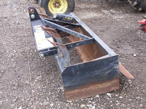 "3: Heavy Duty Woods 72"" Box Blade for Kubota Tractor - 2"