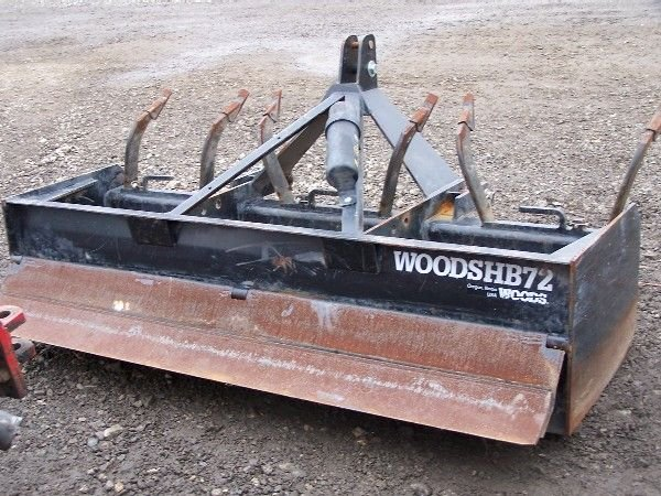 "3: Heavy Duty Woods 72"" Box Blade for Kubota Tractor - 4"