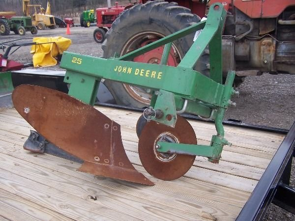 7: Original John Deere 3PT One Bottom Plow for Tractors