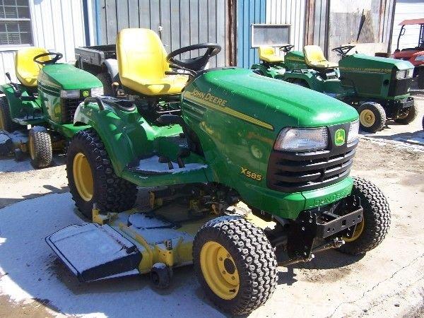 75: John Deere X585 Lawn and Garden Tractor w/ 4x4 Mowe