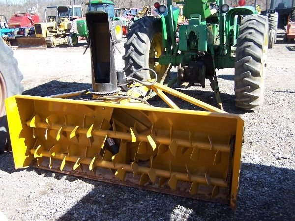 23A: Lorenz 7' Double Auger Snow Blower 3pt for tracto