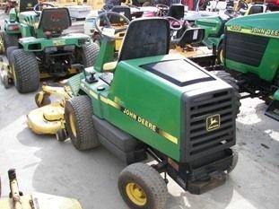"67: John Deere F725 Front Cut Lawn Mower with 54"" Deck - 4"