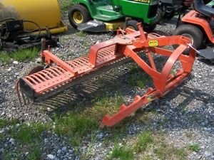 520: Nice 3pt 7ft York Rake w/ Teeth and Wheels for Tra