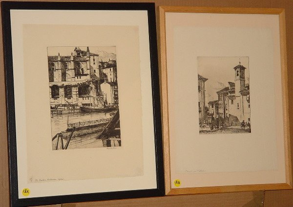 18: Max Kuehne (1880-1968) etchings spain