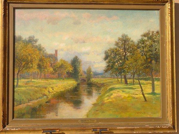 78: Van Boskerck, Impressionist River Landscape