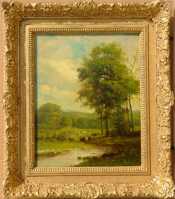 87: William Hart (1823-1894) Hudson River School oil