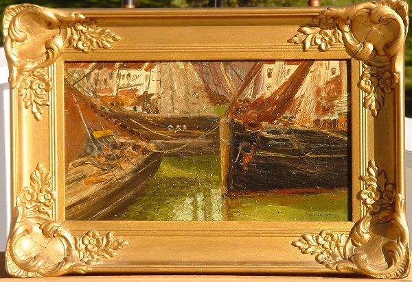 125: Frederick Mulhaupt (1871-1938) Impressionist  oil