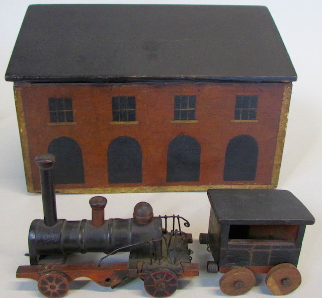 19th C. Childs Wooden Train Station - 2